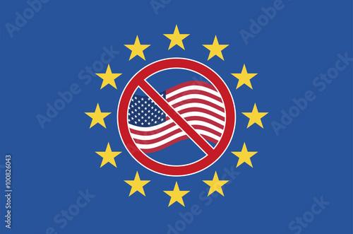 Fotografie, Obraz  TTIP Protest Sign