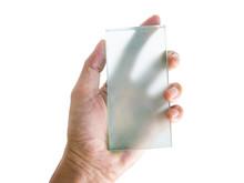 Semi-transparent Futuristic Mock Up Device On Human's Hand