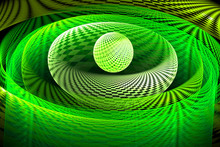 Abstract Fractal Green Pattern