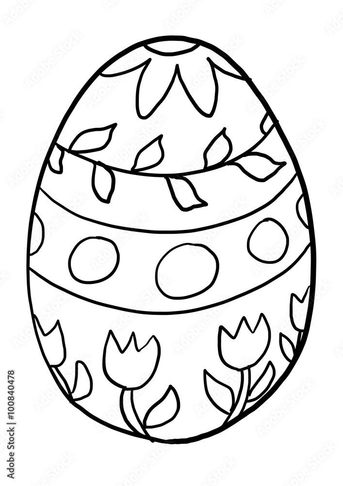 malvorlagen ostereier - kinder zeichnen und ausmalen
