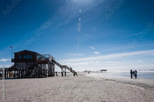 Keuken foto achterwand Noordzee Am Strand von Sankt Peter-Ording; Nordfriesland; Deutschland
