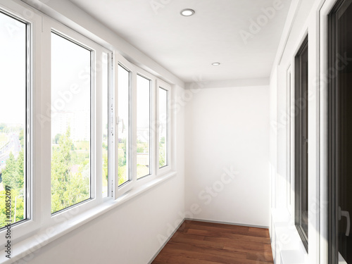 visualization of the interior. 3D Rendering Canvas Print