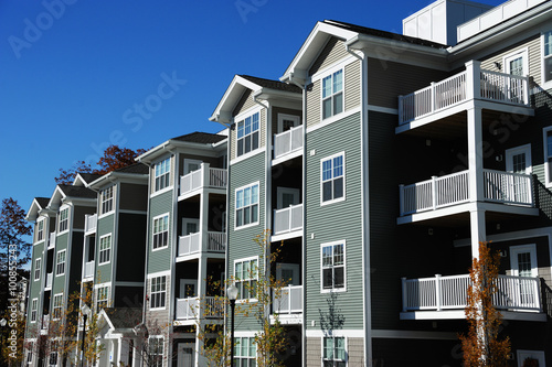 apartment building in sunny day Wallpaper Mural