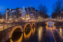Night View Over Amsterdam Cana...