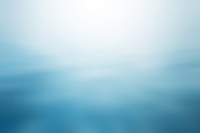 Clear Blue Water, Seascape Ripple Abstract In Blurred Background