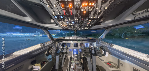 the cockpit inside Canvas Print