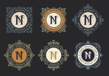 Vintage Emblem Template. Monog...