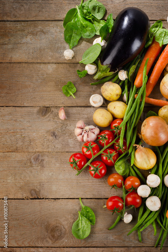 Fresh healthy organic vegetables.