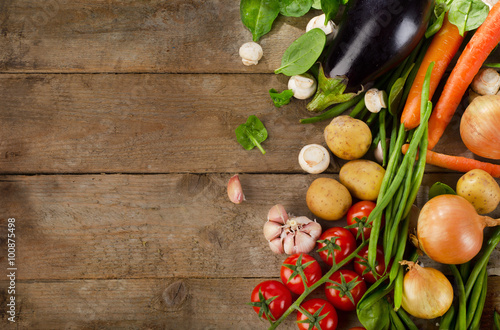 Healthy organic vegetables. Canvas Print