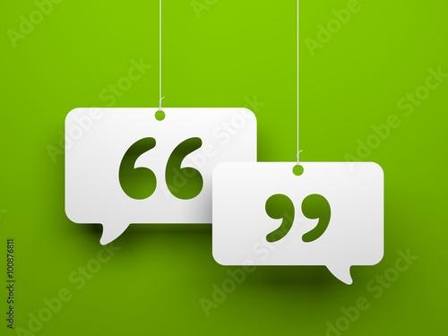 Fotografía  Chat symbol and Quotation Mark
