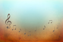 Music Background With Notes - Vector Illustration