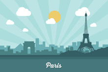 Paris Skyline - Flat Design