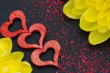 Drei Rote Herzen Und Eine Chry...