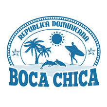 Boca Chica Stamp Or Label
