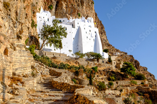 Photo Detail view of Panagia Hozovitissa monastery on Amorgos island,