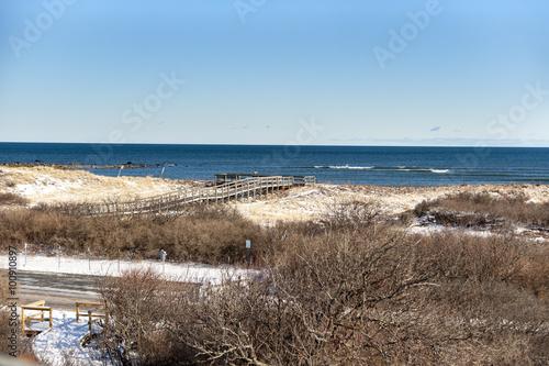 Plagát  Boardwalk overlooking Atlantic Ocean