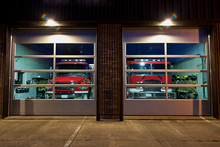 Parked Fire Trucks