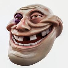 Trollface Beaten. Internet Troll 3d Illustration