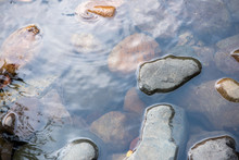 Natural Stones In Water...