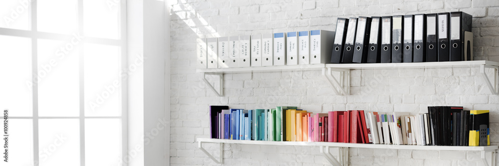 Fototapety, obrazy: Contemporary Room Workplace Office Supplies Concept