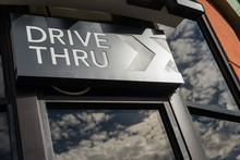 Coffee Drive Thru Sign With Re...