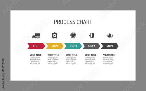 Fotografía  Five-step process arrow chart