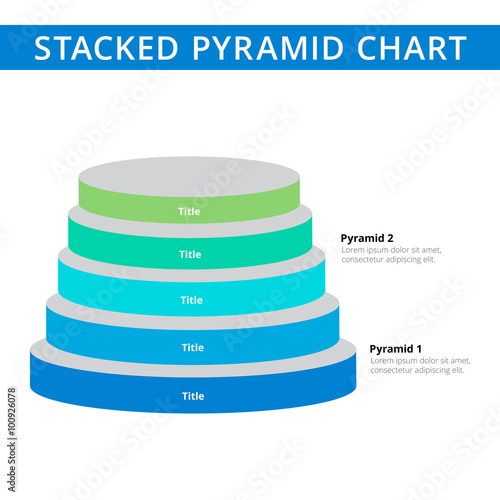 stacked pyramid chart template 1 buy this stock vector and explore