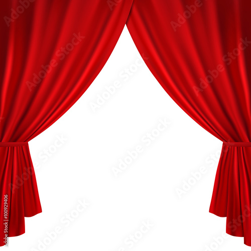 Fotografía  Red theater curtain