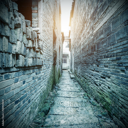 Printed kitchen splashbacks Narrow alley Ancient buildings in rural China