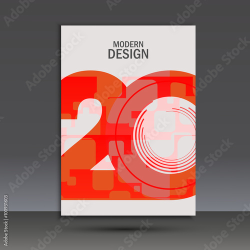Fotografia  Vector design 20 years anniversary. Cover template
