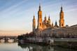 View of Basilica Pillar in Zaragoza , Spain.