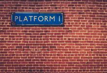 Rustic Station Platform Sign