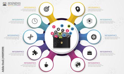 Photo  Infographic design template