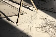 Carteggio, Calcolo Rotta Per Navigazione Marina
