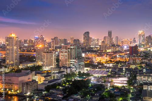 Bangkok city night time Poster