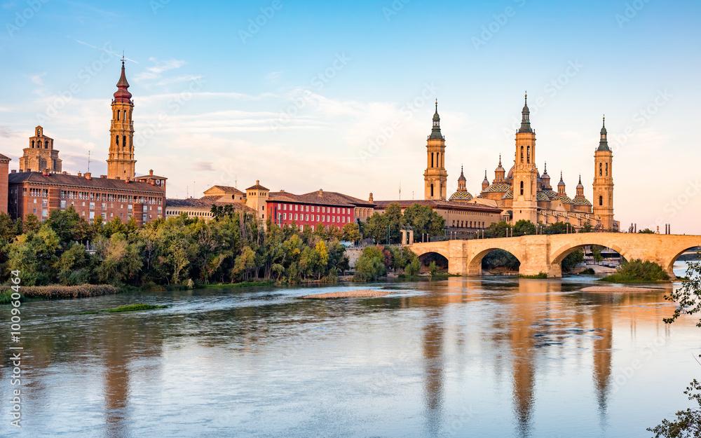 Fototapety, obrazy: View of Basilica Pillar in Zaragoza , Spain.