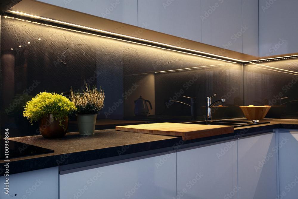 Fototapeta Interior - kitchen