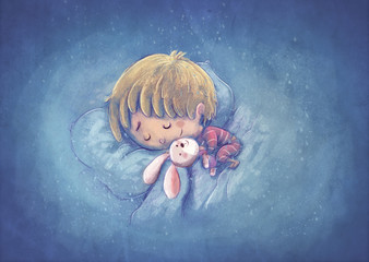 niño durmiendo feliz