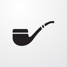 Smoking Pipe Icon For Web And Mobile