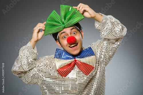 Fotografija  Funny clown with red nose