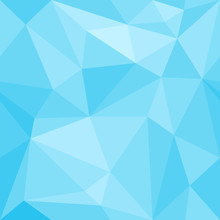 Background Abstract Blue Geometric Polygon Seamless Pattern