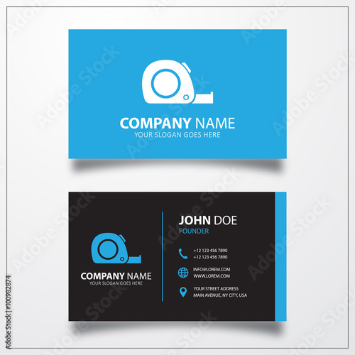 Tape measure. Business card vector template. - Buy this stock vector ...