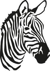 Panel Szklany Zebry Zebra head