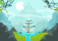 A Lost City With Fountain Of Y...