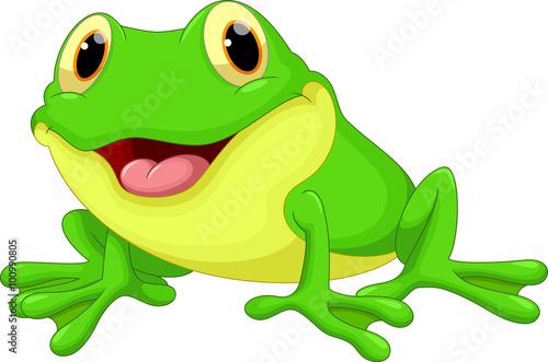 Canvas Print Cute frog cartoon