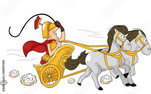 Roman Chariot Canvas Print