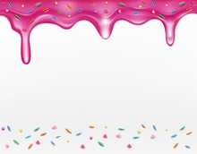 Vector Icing With Sprinkles (element For Design)