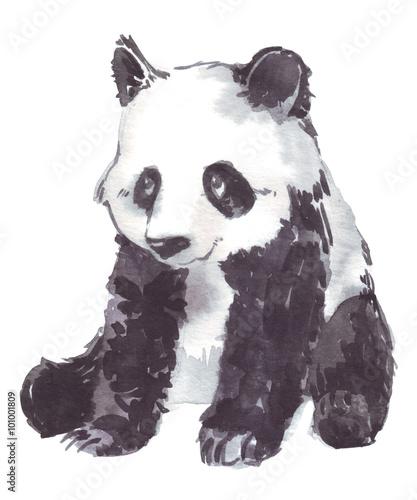 ilustracyjny rysunek panda