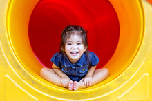 Happy Asian Girl Play Colour I...