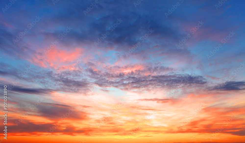 Fototapety, obrazy: Sunset sky over the sea